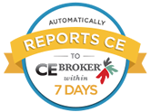 Automatically Reports to CE Broker within 7 days